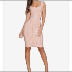 House of CB blush bandage dress